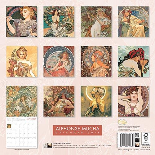 Alphonse Mucha Wall Calendar 2016 (Art Calendar)