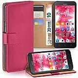 moex Huawei Y625 | Hülle Pink mit Karten-Fach 360° Book Klapp-Hülle Handytasche Kunst-Leder Handyhülle für Huawei Y625 Case Flip Cover Schutzhülle Tasche