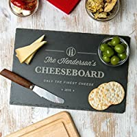 Personalised Cheese Board or Chopping Board - Personalised Wedding or Anniversary Gift - Personalised Housewarming gift for couples or families - SLATE OR WOOD Available