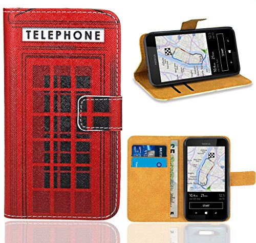 Nokia Lumia 530 Handy Tasche, FoneExpert Wallet Case Flip Cover Hüllen Etui Ledertasche Lederhülle Premium Schutzhülle für Nokia Lumia 530 Handy-fall Nokia Lumia 530
