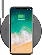 Noise Slimmest 10W Qi Fast Wireless Charging Pad for iPhones on iOS 11.2 and all Qi Compatible Devices (Slate Grey)