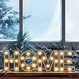 LED Home Schriftzug Leuchtbuchstaben aus Holz Zeitschaltuhr Batteriebetrieb Lights4fun