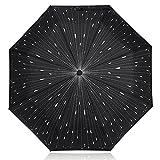 Paraguas Creative Raindrops, NNIUK Folding Fancy Paraguas A prueba de viento automático Abrir y...