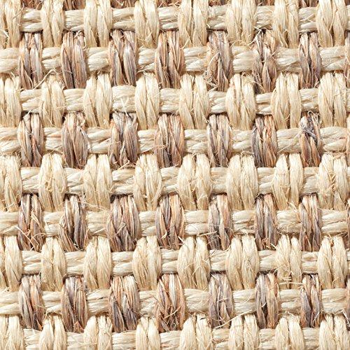 Teppichboden Auslegware | Sisal Naturfaser Schlinge | 400 cm Breite | natur weiss | Meterware, verschiedene Größen | Größe: 1 Muster