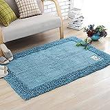 Xcjj Wshfor Cotton Porcelain Carpet, Non-Slip Carpet, Living Room, Bedroom, Blue (50Cmx 80Cm),50*80CM