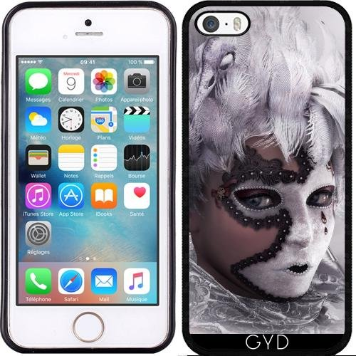 Coque pour Iphone SE - Le Masque by Illu-Pic.-A.T.Art Silicone