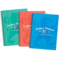 Oxford Campus, A4 Notebook, Lined, 140 Page, Assorted Marine Colors, Pack of 3