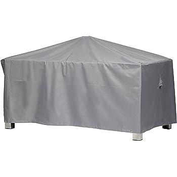 Premium Schutzhülle Für Gartentisch Rechteckig Aus Polyester Oxford 600D    Lichtgrau   Von U0027mehr Gartenu0027   Größe M (155 X 95 Cm)