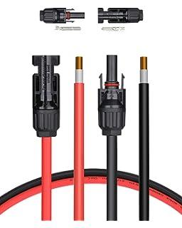 Solaire battiere Câble de raccordement 4 mm Carré 30 a sauvegarde solaire câble contrôle de charge 141003