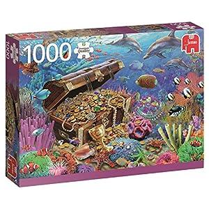 Jumbo- Underwater Treasure pcs Tesoro Submarino, Puzzle de 1000 Piezas (618342)