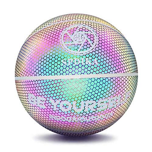 Alacritua Balon Baloncesto Luminoso Baloncesto Resplandeciente