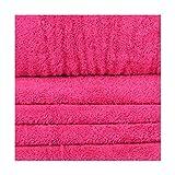 Tissu éponge - Rose pink flambe - Largeur 150 cm- Longueur au choix par 50cm