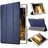 tinxi® PU artificial piel Funda para Asus Zenpad 8.0 Z380C / Z380KL / Z380M 8 pulgadas Tablet (20,32 cm) protectora Cover Tablet Notebook Case con el azul oscuro fondo