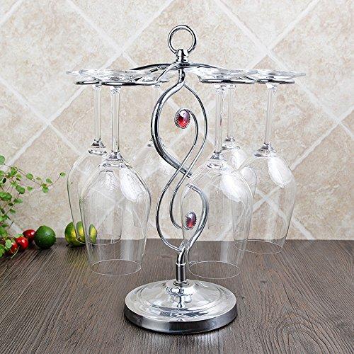 36 Küchentisch (Rot Wein Kleiderbügel Champagner Glas Wein Rack zum Aufhängen Tasse Durchmesser 15cm × hoch 35cm, nicht Wein enthalten Glas Shuangzhu point)