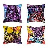Handmade cotton printed Cushion cover ga...