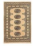 CarpetVista Pakistan Buchara 2ply Teppich 63x94 Orientalischer Teppich