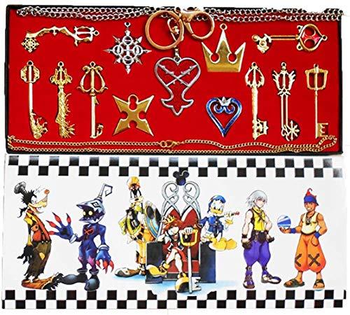 Xiemushop Kingdom Hearts 2 II Keyblade Schlüsselanhänger Halskette Set Box 13pcs Collection (Kingdom Hearts Kostüm Kind)