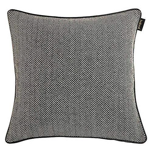 Unbekannt JXQ Hahnentritt Schwarzweiß Kissen Sofakissen Bürokissen Bett Rückenlehne Kissenbezug Kern Taille Kissen, 3 Größen (Color : Black+White, Size : 45 * 45cm) -
