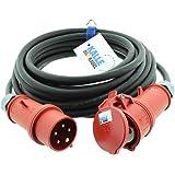 CEE-verlengkabel krachtstroomkabel rubberen verlenging H07RN-F 5G 2,5mm² 400V 16A 15 meter van Kalle DAS kabel
