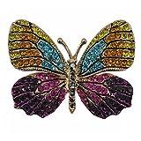 WINOMO Bunte Strass Schmetterling Broschen Pin