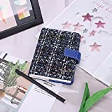 Calepin A6 à Carreau Agenda Scolaire (165 * 120mm) Semainier Calendrier Notebook du Plan Hebdomadaire Mensuel Journal Intime Carnet Couverture en Tissu Littéraire