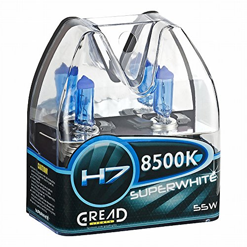 Preisvergleich Produktbild H7 Box Halogen Lampen in Xenon Optik von Gread Lights | Super White | 8500k 55W | E-Prüfzeichen | 100% Passgenauigkeit & lange Lebensdauer