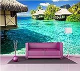 Adhesivos decorativos gigante Déco: Casas sobre–Zancos in the Tropics, 323x220cm