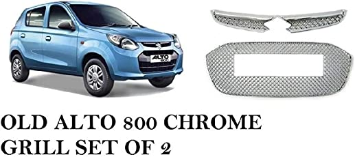 SDR Premium Quality Front Chrome Grill For Alto 800 Set of 2