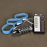 Finlon Electro Shock Penis Ring Elektrische Edelstahl Anal Plug Elektrische Stimulation Hahn Penis Plug Urethral Sound Delay Ejakulation
