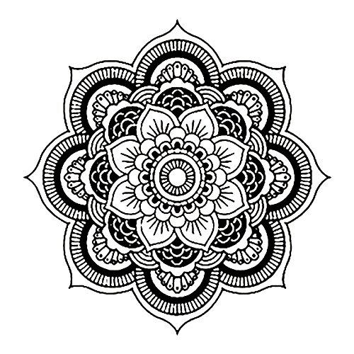 Pegatinas De Pared Flores Mandala Flor Dormitorio Indio Tatuajes De Pared Arte Pegatinas Mural Inicio Bebe Frases Cocina Flores Niño Niña Negro