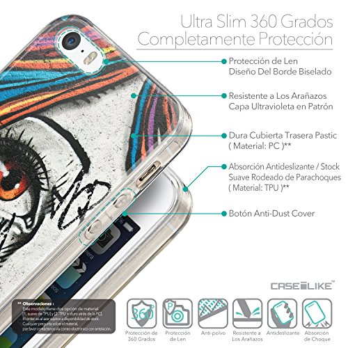 CASEiLIKE Comic Beschriftung 2914 Ultra Slim Back Hart Plastik Stoßstange Hülle Cover for Apple iPhone 5G / 5S +Folie Displayschutzfolie +Eingabestift Touchstift (Zufällige Farbe) 2724