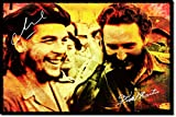 Che Guevara und Fidel Castro Kunstdruck (mit signierter Autogramm Nachbildung) Hochglanz Poster - Größe: 12 x 8 Inches