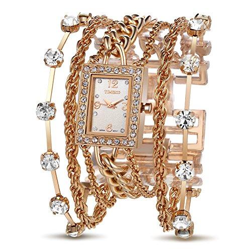 Time100 W50032L.02A-Orologio da polso donna,acciaio Inox, oro