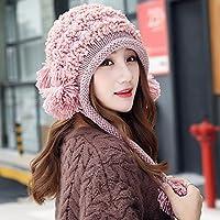 Wenxin0815 Hat Frau Winter Warme Ohren Verschließen Sie Alle - Match Freizeitaktivitäten Strickmütze