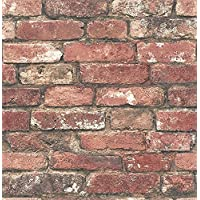 Brewster Wallcovering Co FD23287 Loft Red Brick Wallpaper, by Brewster Wallcovering Co