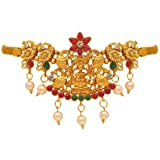 Jaipur Mart Gold Golden Alloy Metal Glass Stone Bajuband/Armlet for Women (BJB182MG)
