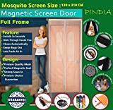 #10: Pindia Door Mosquito Screen Curtain (120 x 210 cms) Net Mesh Magnetic Automatic Magic Closer - Beige