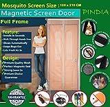 #7: Pindia Door Mosquito Screen Curtain (120 x 210 cms) Net Mesh Magnetic Automatic Magic Closer - Beige