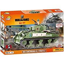 Wargaming - Sherman A1/Firefly, tanque, color verde (COBI 3007)