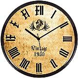Regent Round Vintage Wall Clock With Gla...