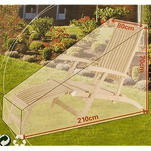 EDC Schutzhülle für Gartenliege Liege Sonnenliege Plane Abdeckung Liegesofa