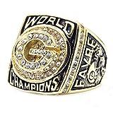 ZNKVJ Herren Das Jahr 1996 der Green Bay Packers Meisterschaft Ring,Größe 70 (22.3)