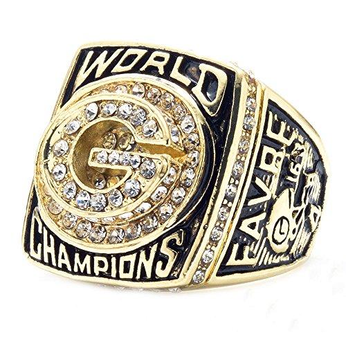 ZNKVJ Herren Das Jahr 1996 der Green Bay Packers Meisterschaft Ring,Größe 62 (19.7)