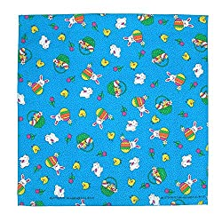 CTM Bunny Patch Easter Print Bandana by CTM
