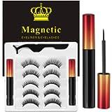 Ciglia Magnetiche Con Eyeliner Magnetico Kit, 5 Paia Di Ciglia Finte Naturali E Di Lunga Durata, Ciglia Finte Magnetiche…