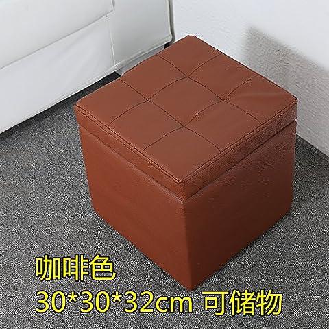 Scarpe eleganti e cuoio attuazione Attuazione sedia bassa ammettere attuazione in vero legno di implementazione di storage divano poggiapiedi 30 Creative Appoggiapiedi Brown