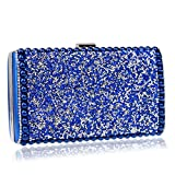 LWZY Pailletten-abendtasche,Hochzeit handtasche clutch handtasche Für frauen hochzeit und party-Blau 5x12x22cm(2x5x9inch)