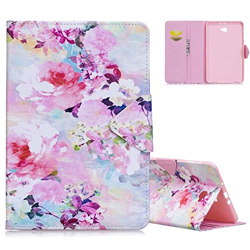 Galaxy Tab A 10.1 T580 Schutzhülle, Aeeque Premium Full Body Case Cover [Elegant Bunte Aquarell...