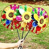 3D Sequins Animal Windmill Wind Spinner Home Garden Yard Decoration Kids Toy Sequins Blue Dragonfly Kofun Wind Spinner