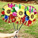 Dairyshop Sonnenblumen-Windrad, Bunt, Windmühle, Heim, Garten, Dekoration, Kinderspielzeug, 1Stück